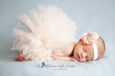 Sweet Peaches And Cream Tutu Newborn Tutu by ASweetSweetBoutique, $35.00