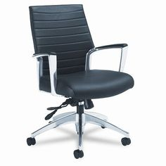 Global Total Office Accord Desk Chair Upholstery: Black Coal