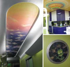 Pediatric Dental Office Design with an Outer Space Them by Unique Interior Design