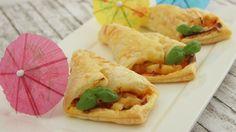 Hawaii-Pizzataschen aus Blätterteig