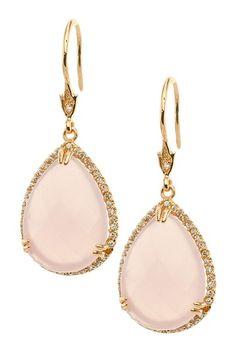 Mother of Pearl Pear Drop Earrings by Kenneth Jay Lane on @HauteLook