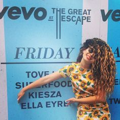 PRODUCT - Ella Eyre wearing more colour - great for the SS15 collection