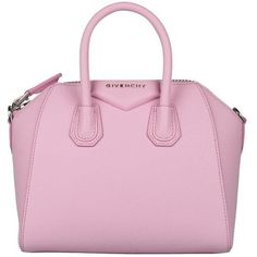 Givenchy Antigona mini leather bag ($1,718) ❤ liked on Polyvore featuring bags, handbags, shoulder bags, rosa, pink purse, pebbled-leather handbags, leather handbags, summer shoulder bags and pink handbags
