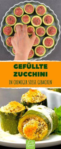 Here is a simple recipe for zucchini, perfect as an after-work kitchen. The zucchinis are filled with a minced meat and cheese mixture and cooked in a spicy sauce in the oven. An irresistible lunch or dinner, quick and easy to cook. Casserole Recipes, Crockpot Recipes, Zucchini Casserole, Kids Meals, Easy Meals, Carne Picada, Keto Pancakes, Spicy Sauce, Cauliflower Recipes