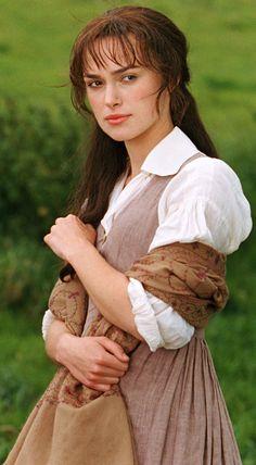 Keira Knightley as Elizabeth Bennet, Pride and Prejudice 2005