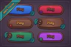 Fantasy Game Button Maker, available now!