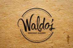 waldo organic print bakery logo design