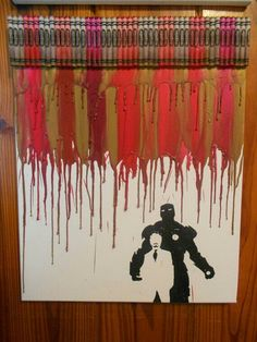 Melted Crayon Art: Iron Man