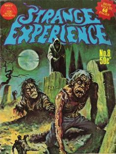 Cover for Strange Experience (Gredown, 1975 series) Classic Monster Movies, Classic Monsters, Old Comic Books, Comic Book Covers, Horror Posters, Horror Comics, Character Illustration, Book Illustration, Supernatural Comic