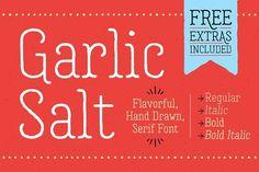Garlic Salt Font Family by Adam Ladd on @creativemarket