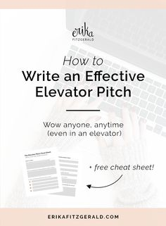 Win Clients and Impress People: How to Write an Effective Elevator Pitch // copywriting, copywriter, content writer, writing tips, elevator speech, business tips, entrepreneurship, creative entrepreneur, mission statement, sales tips, networking
