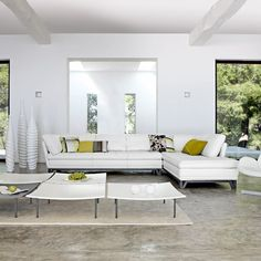 Furniture, Amazing Modern Living Room Design Equipped With White Sleeper Sofa Design Plus Various Cushions And Contemporary Coffee Table: Sleeper Sofa: One of Wonderful Also Useful Furniture White Couch Living Room, Living Room Modern, Interior Design Living Room, Living Room Designs, Modern Sofa, Living Rooms, Interior Modern, Cozy Living, Small Living