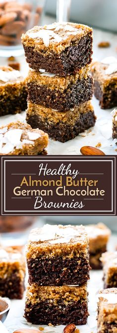 Healthy German chocolate bars with almond butter are gluten-free, vegan, dairy-free and soy-free. They make a wonderful no-bake chocolate dessert recipe!