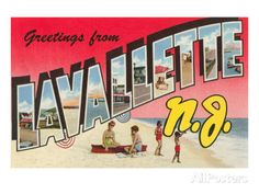 Greetings from Lavallette, New Jersey Print at AllPosters.com