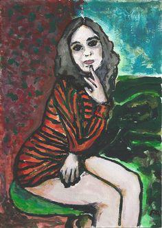Petillo Piero. Painting. Portrait No. 1 Olga Fulu Philosopher