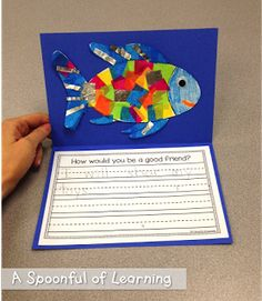 Fun in the Ocean! Math and Literacy Activities! The Rainbow Fish: Rainbow Fish Activities, Rainbow Fish Crafts, Ocean Activities, Kindergarten Activities, Writing Activities, Rainbow Fish Eyfs, The Rainbow Fish, Writing Ideas, Ocean Unit