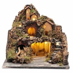 Inch Scale Stable by Fontanini Christmas Nativity Scene, Christmas Diy, Christmas Crafts, Christmas Decorations, Diy Fountain, Fairy Tree, Portal, Decoupage, Waterfall