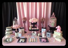 Beautiful dessert table by Lil' Sweet Me Bake Shop!