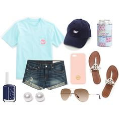 day at the lake by lilyiorns on Polyvore