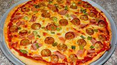 Pizza con salchichas y pavo - Turkey and sausage pizza