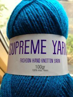 Supreme Yarns bright petrol /peacock colour by Bitsandbobstopia Cheap Yarn, Yarns, Supreme, Peacock, Fiber, Bright, Colour, Stuff To Buy, Fashion