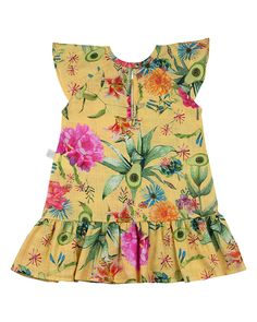 Vestido Ano Zero Tricoline Estampado Digital Dylan Floral Summer Amarelo Floral Tops, Kids, Women, Products, Fashion, Infant Girl Fashion, Cutest Baby Clothes, Kid Outfits, Baby Clothes Girl