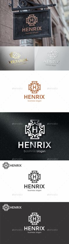 Badge Crest Logo Template  Henrix — Vector EPS #hotel #clothing business • Available here → https://graphicriver.net/item/badge-crest-logo-template-henrix/11089949?ref=pxcr