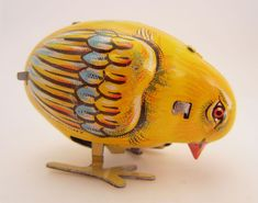 This is a vintage pecking chick wind up tin toy... See what antique toys are part of our collection! #BerkshireCollects