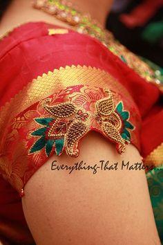 Cutwork Blouse Designs, Wedding Saree Blouse Designs, Pattu Saree Blouse Designs, Blouse Neck Designs, Hand Embroidery Designs, Sleeve Designs, Aari Embroidery, Sari Blouse, Embroidery Stitches