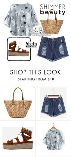 """""""shein style"""" by sheinside ❤ liked on Polyvore featuring Straw Studios"""