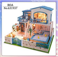 Diy Doll House 3D Miniature Model Building Kits Wooden Handmade Dollhouse Toy Birthday Greative Gift-You Are Come Form The Star