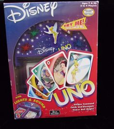 Disney Uno Tinker Bell With Lights and Sounds Special Edition Mattel 2002 #Disney
