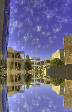 Getty Center Reflection Pool, Brentwood, California by EncinoMan
