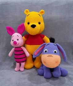 144 Superheroes, Babies, Animals and Plants Amigurumi Page amigurumi free pattern; amigurumi for beginners;Amigurumi crochet winnie the pooh free pattern. You can find free recipes and images of many amigurumi knitting toy models on our website. Crochet Animal Patterns, Stuffed Animal Patterns, Crochet Patterns Amigurumi, Amigurumi Doll, Crochet Animals, Crochet Dolls, Amigurumi Tutorial, Tutorial Crochet, Doll Patterns Free