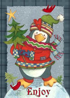 CHRISTMAS ENJOY PENGUIN *