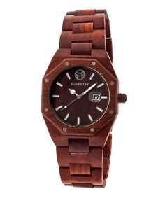 Love this EARTH wood watches Red Medullary Raywood Bracelet Watch by EARTH wood watches on #zulily! #zulilyfinds
