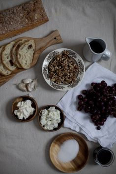 a daily something: Recipe | Roasted Grape and Goat Cheese Bruschetta