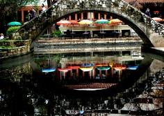 San Antonio, reflection, river walk