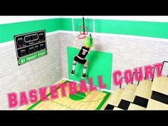 How to Make a Doll Basketball Court - Doll Crafts - YouTube