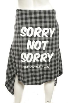 UNISEX - SORRY NOT SORRY Flannel - Black/Gray | The Vintage Twin