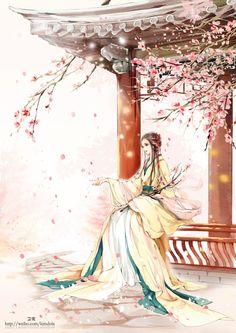 古风~中国风~插画~手绘~美男