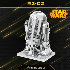 The Metal Earth R2-D2 models are amazingly detailed etched models that are fun and satisfying to assemble. Each model is made from a pair of completely flat laser-etched steel sheets. R2-D2 is a fictional character in the Star Wars universe created by George Lucas.R2-D2 is a major character in all Star Wars films. Along with his protocol droid companion C-3PO, he joins or supports Anakin Skywalker, Luke Skywalker, Princess Leia, and Obi-Wan Kenobi in various points in the saga.