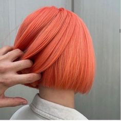 10 Living Coral Hair Colors Inspired By Pantones Color of The Year 2019 Coral Hair Color, Peach Hair Colors, Crazy Hair Colour, Neon Hair, Pink Hair, Pastel Orange Hair, Blonde Hair, White Hair, Black Hair