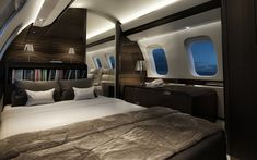 Master Bedroom of the Bombardier Global Express Private Jet Hauptschlafzimmer des Bombardier Global Express Private Jet Jets Privés De Luxe, Luxury Jets, Luxury Private Jets, Private Plane, Modern Bedroom, Master Bedroom, Master Suite, Bedroom Classic, Bedroom Red