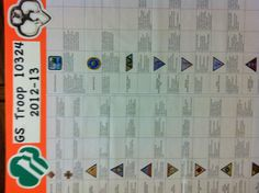 This board lists all available GS Brownie badges and awards. As the girls choose an award to work on and complete a step, they can check off that requirement and plan for the next. Help your girls see what goes into planning for their activities!
