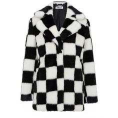HEATHER - Check luxurious faux fur coat   faux fur jacket - Jakke ($215) ❤ liked on Polyvore featuring outerwear, coats, fake fur coats, faux fur coat, jakke, checked coat and checkered coat
