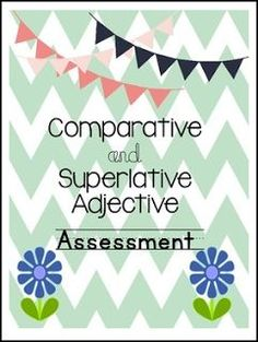 """FREE LANGUAGE ARTS LESSON - """"Comparative and Superlative Adjective Assessment"""" - Go to The Best of Teacher Entrepreneurs for this and hundreds of free lessons. 1st - 2nd Grade #FreeLesson #LanguageArts http://www.thebestofteacherentrepreneurs.com/2016/07/free-language-arts-lesson-comparative.html"""