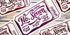 No. Seven Font Poster
