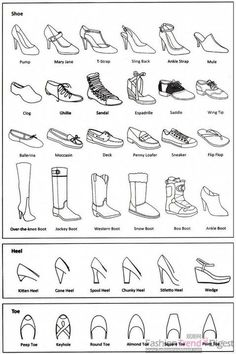 Fashion infographic: shoes Informations About 25 + › Mode-Infografik: Schuhe Pi Fashion Terminology, Fashion Terms, Trendy Fashion, Fashion Spring, Fashion Kids, White Fashion, Fashion Fashion, Fashion 2018, Classy Fashion