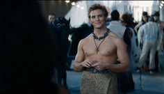 Finnick Odair in the Catching Fire Trailer